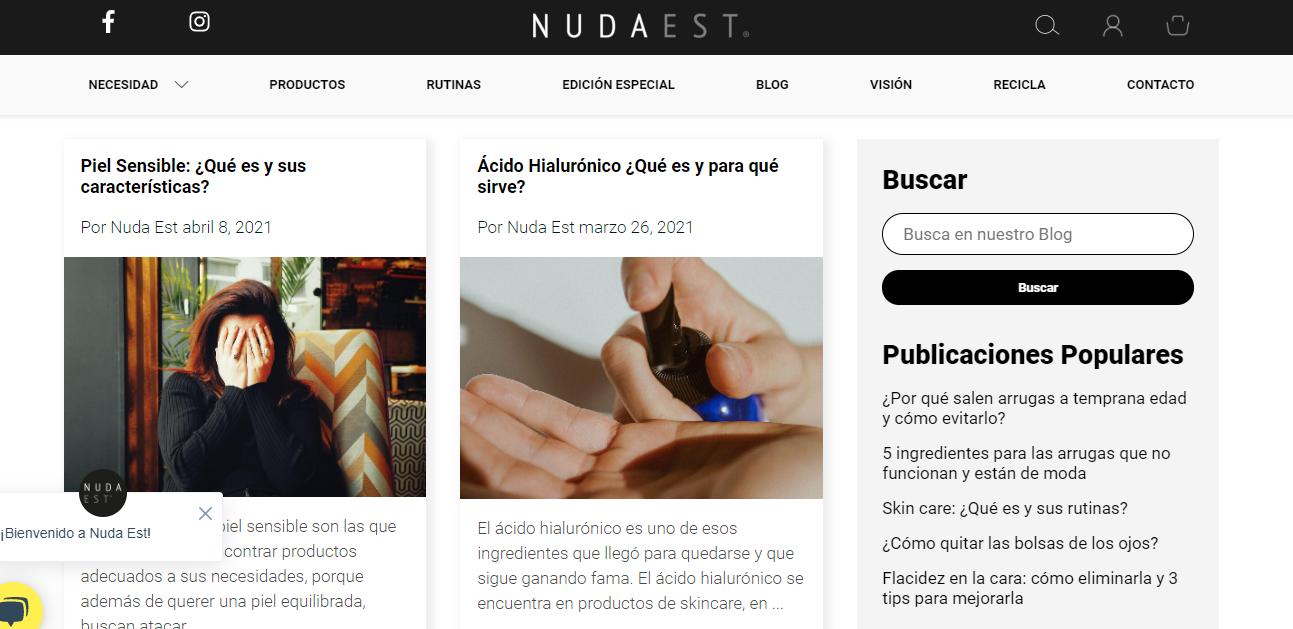 Nuda Est blog