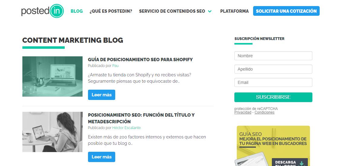 Postedin blog