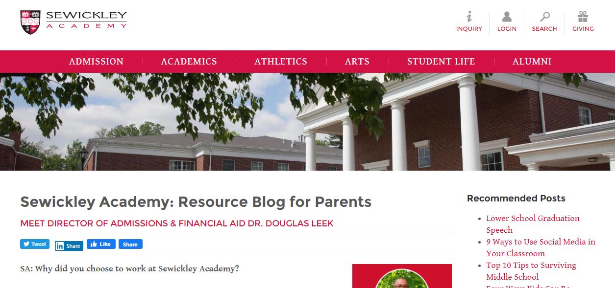 Sewickley academy blog